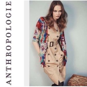 Anthropologie Moulinette Soeurs Khaki Trench Dress